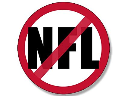 American Vinyl Round NO NFL Sticker (Anti Football League Flag Anthem Sign  Symbol).