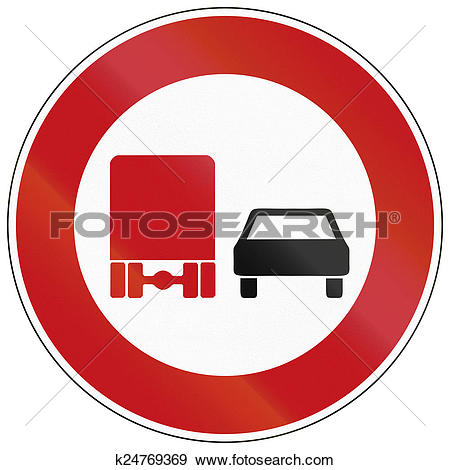Stock Illustration of No Overtaking By Lorries k24769369.