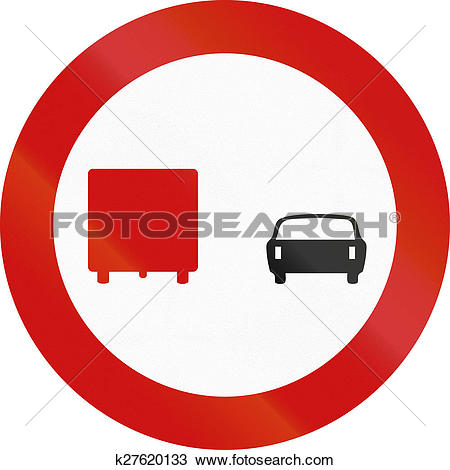 Drawing of No Overtaking By Lorries in Greece k27620133.