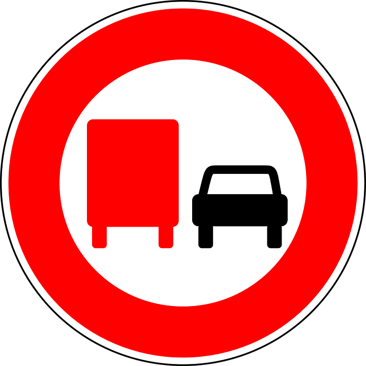 Free vector graphic: No Overtaking By Lorries.