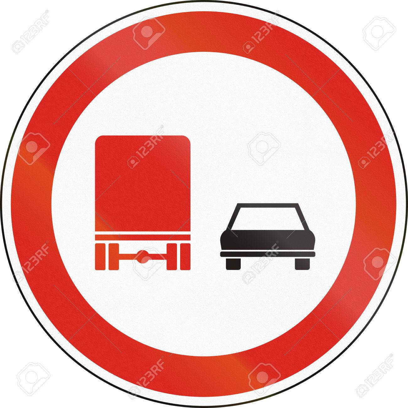 Hungarian Regulatory Road Sign.