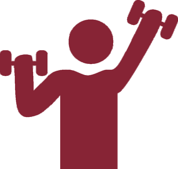 Figure Lifting Hand Weights Icon.