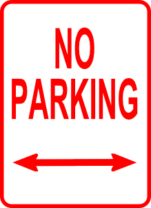 No Parking Sign Clip Art.