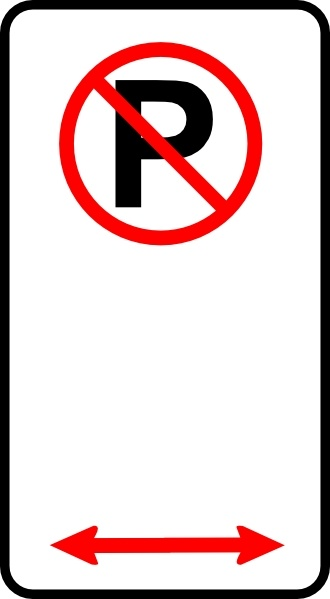 No Parking Zone clip art Free vector in Open office drawing.