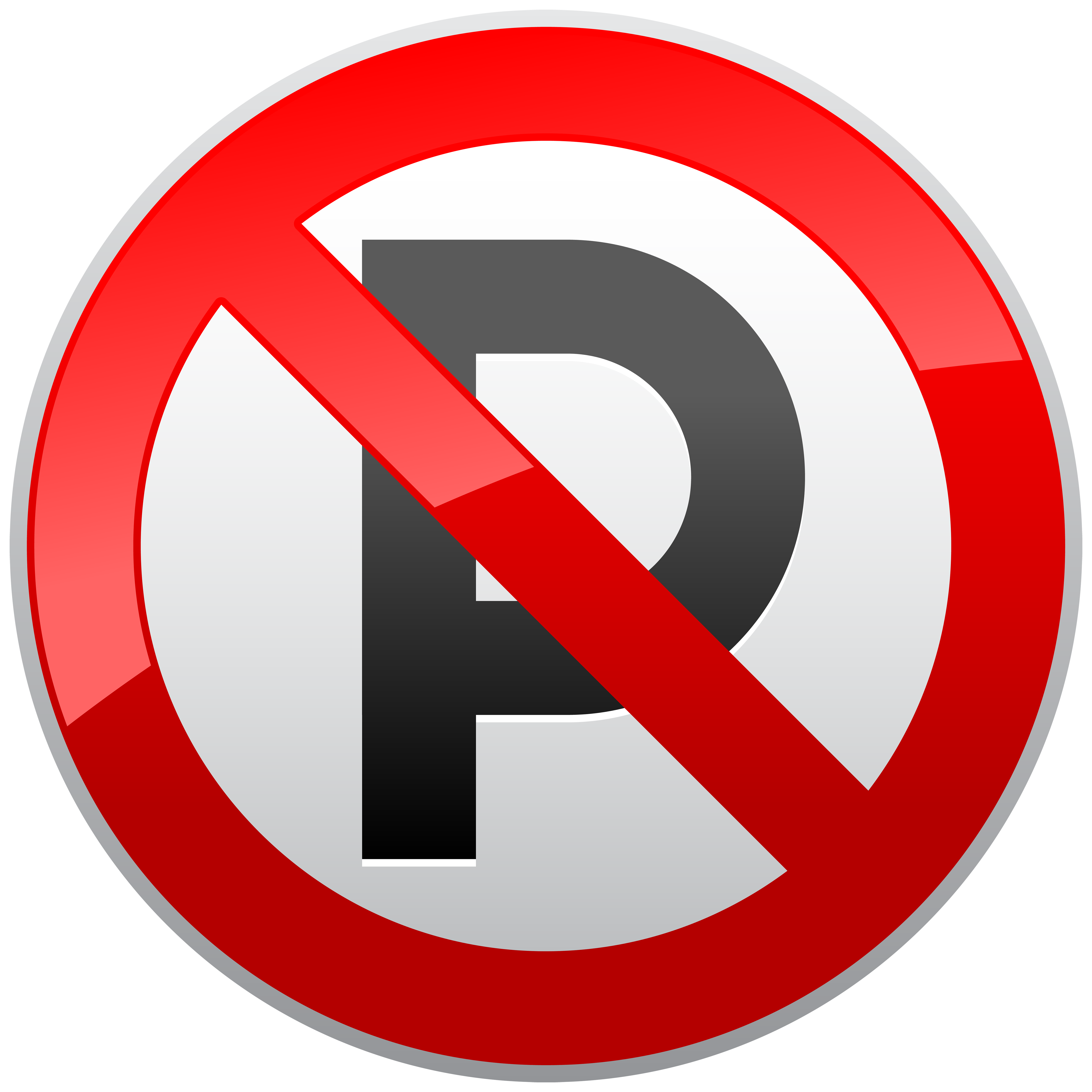 No Parking Prohibition Sign PNG Clipart.