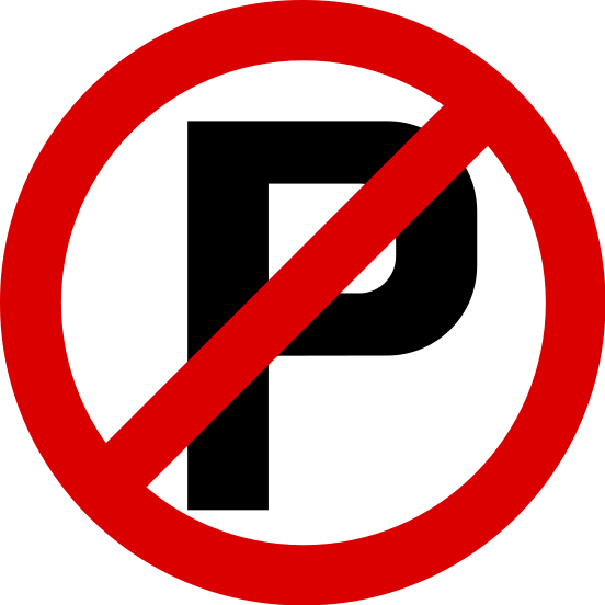 No Parking Sign Clipart.