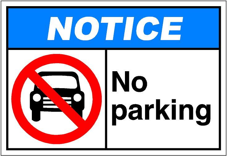 No parking clipart free.