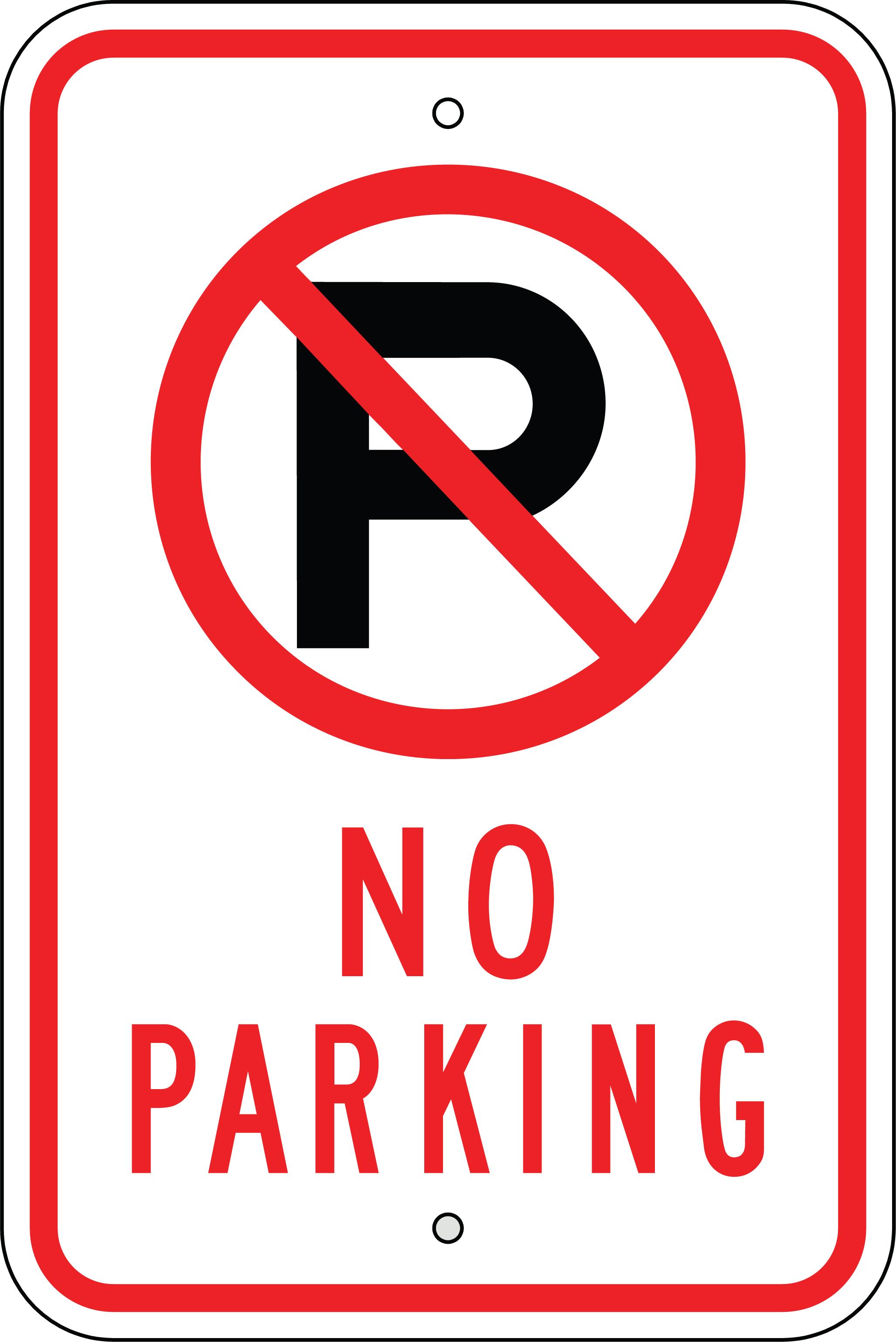 No Parking Sign Clipart.