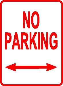 No Parking Sign clip art Free Vector / 4Vector.