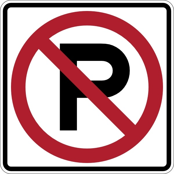 No Parking Sign clip art Free vector in Open office drawing.