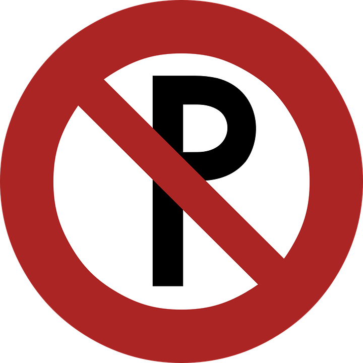 No Parking Road Sign transparent PNG.