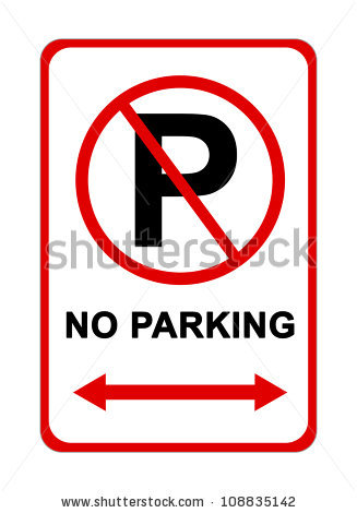 No Parking Sign Stock Images, Royalty.