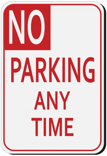 No Parking Sign PNG Clipart.