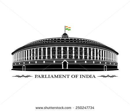 Indian Parliament House Clipart.