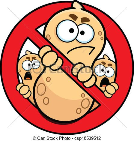 Vector Clip Art of No Peanuts Allowed Allergy Sign.