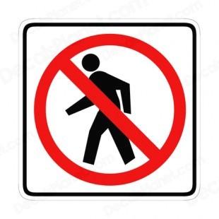 Clipart no walking.