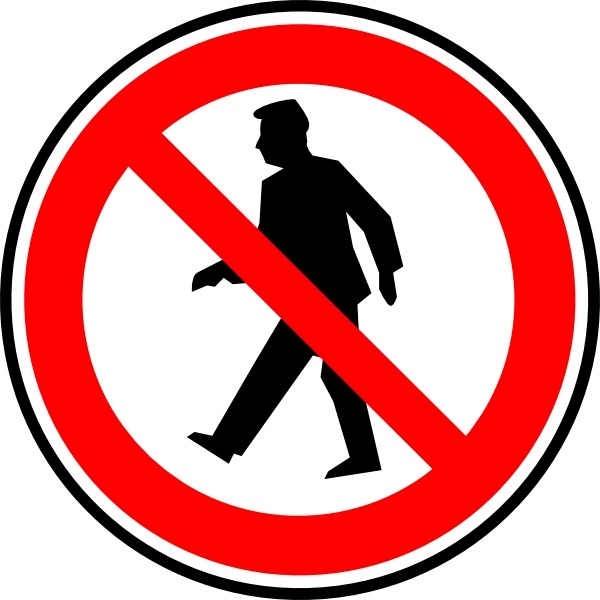 No Walking Pedestrians clip art Free vector in Open office drawing.