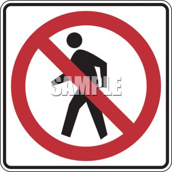 Royalty Free Clip Art Image: Road Sign.