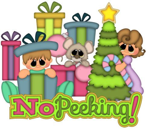 NO PEEKING, Made to Order, premade paper piecing, scrapbook.