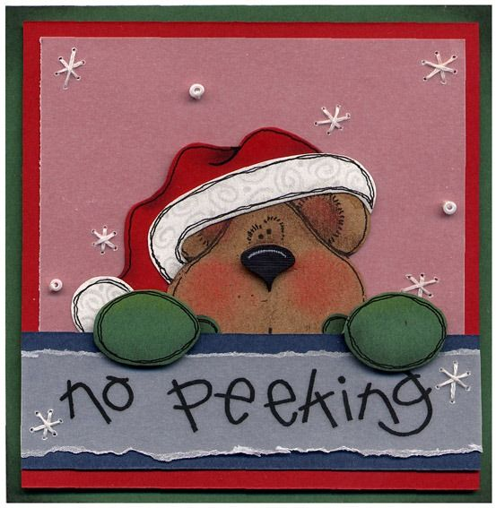 CHRISTMAS NO PEEKING TEDDY BEAR.