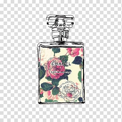 Chanel perfume bottle , Chanel No. 5 Coco Mademoiselle.