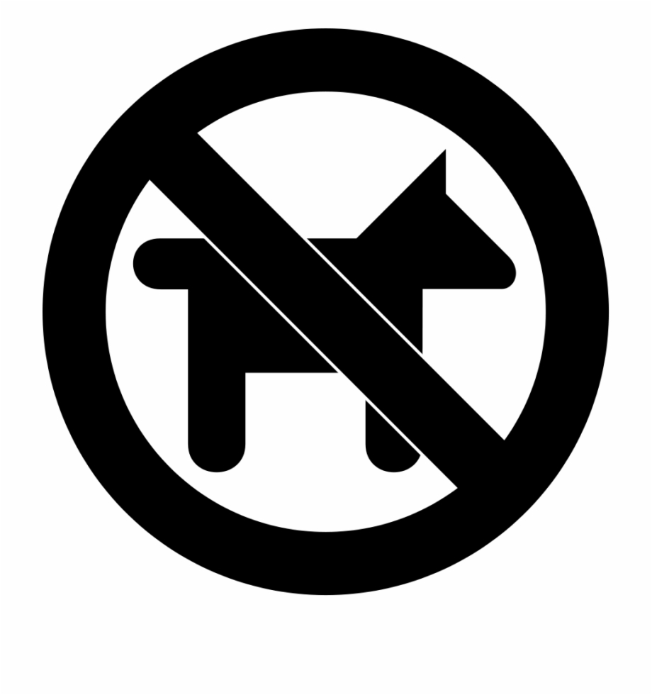 No Dogs Allowed Sign Clip Art.