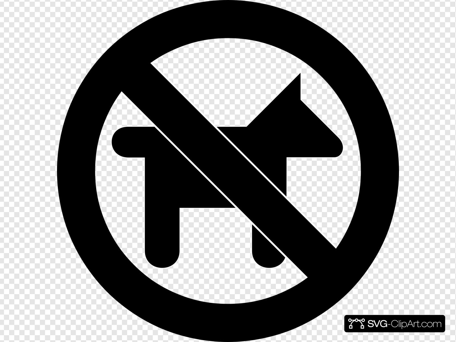 No Dogs Allowed Sign Clip art, Icon and SVG.