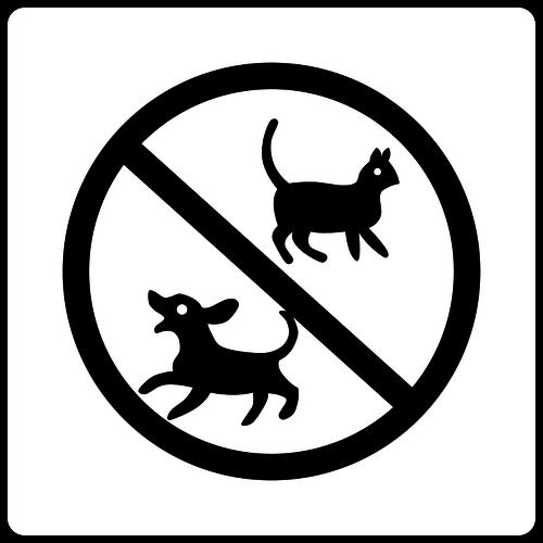 No pets hotel sign vector clip art.