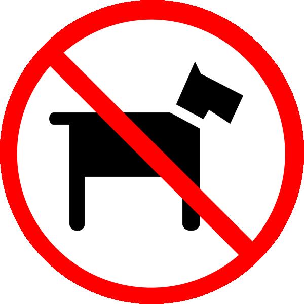 No pets clipart transparent.