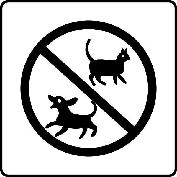 Hotel Icon No Pets Clip Art at Clker.com.