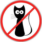 Clipart of No Pets Allowed Sign k4238563.