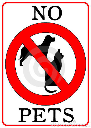 No Pets Sign Royalty Free Stock Photography.