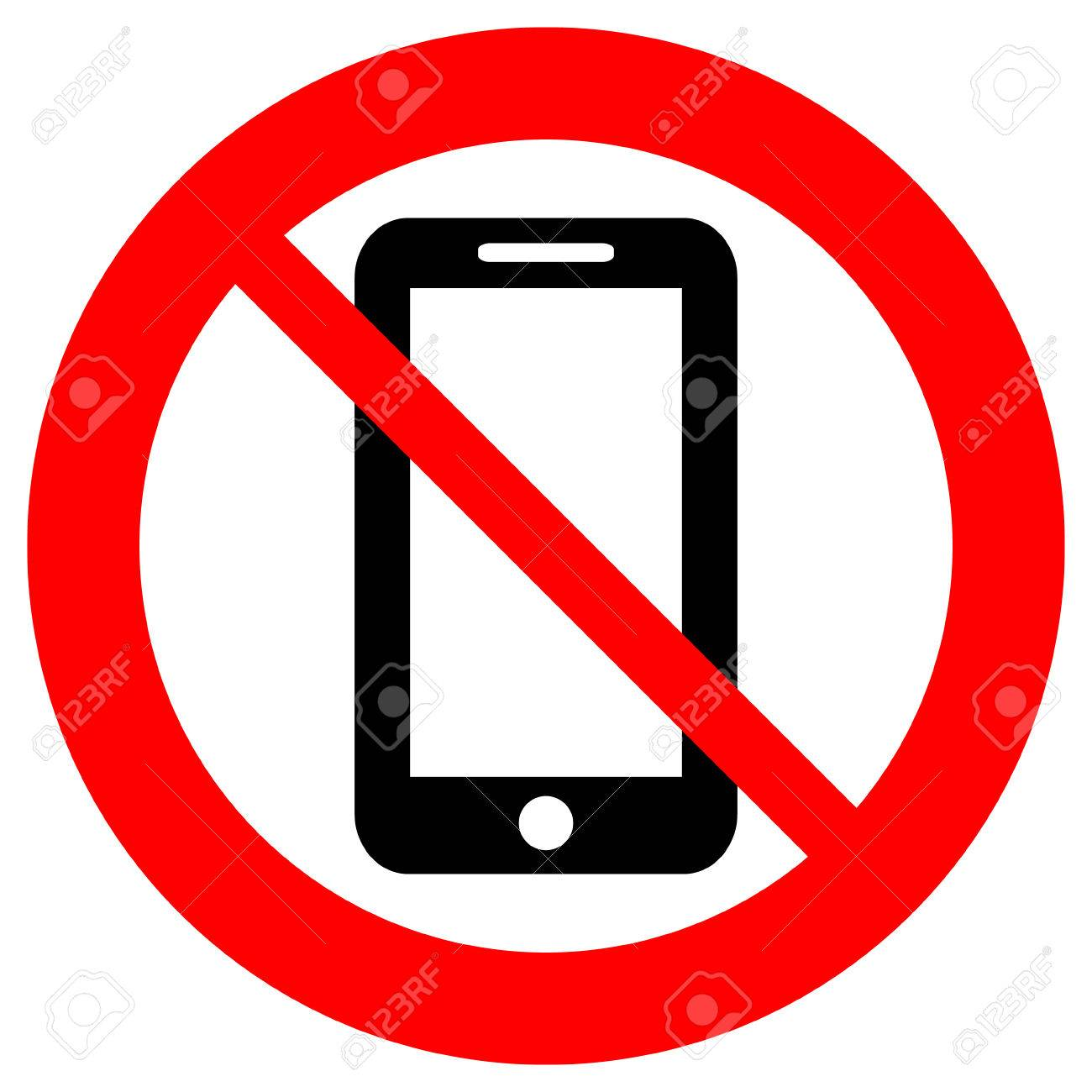 No phone vector sign on white background..