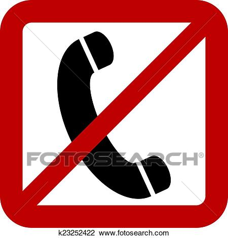 No phone sign Clipart.