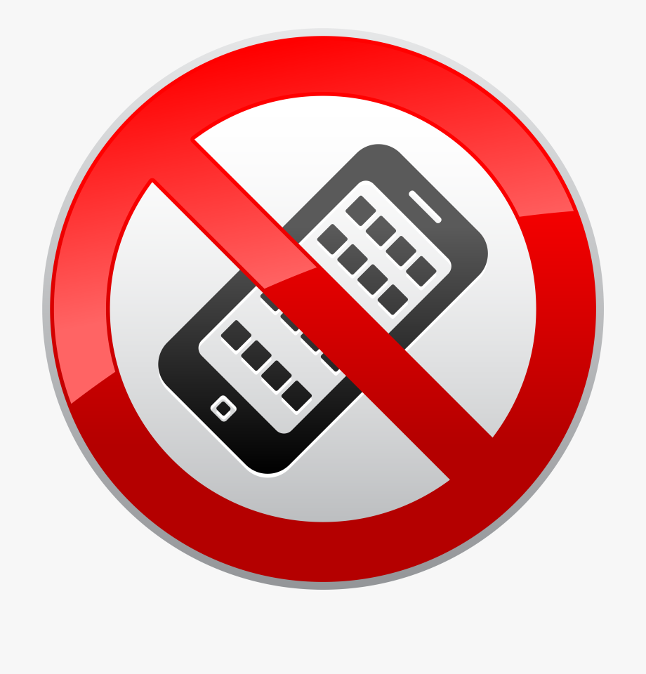 No Activated Mobile Phones Prohibition Sign Png Clipart.