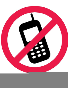 Free No Cell Phones Clipart.