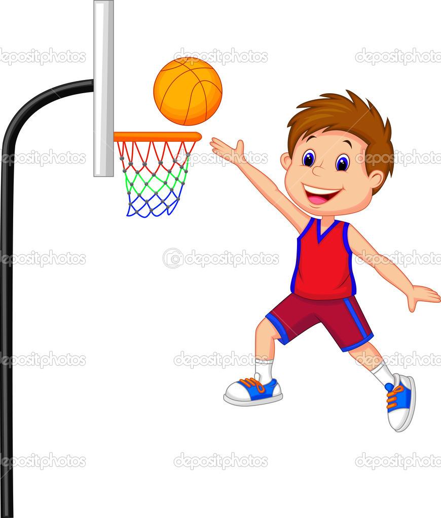 Boy Playing Ball Clipart.