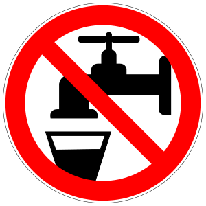 No drinking water.