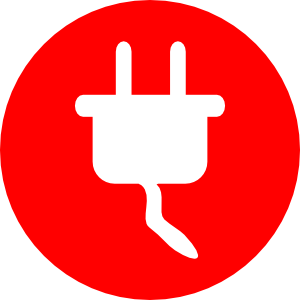 Electric Power Plug Icon Clip Art at Clker.com.