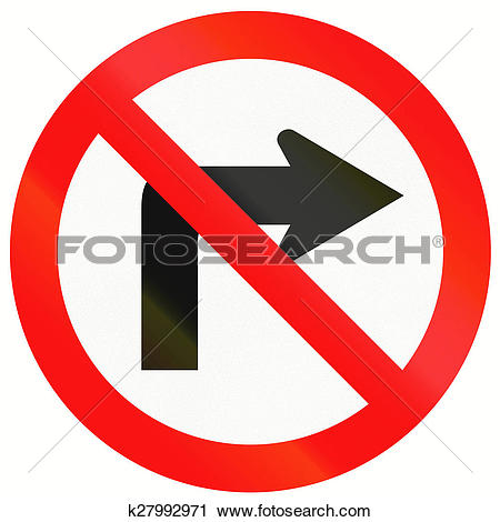 Clipart of No Right Turn in Indonesia k27992971.