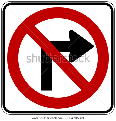 No right-turn clipart #9