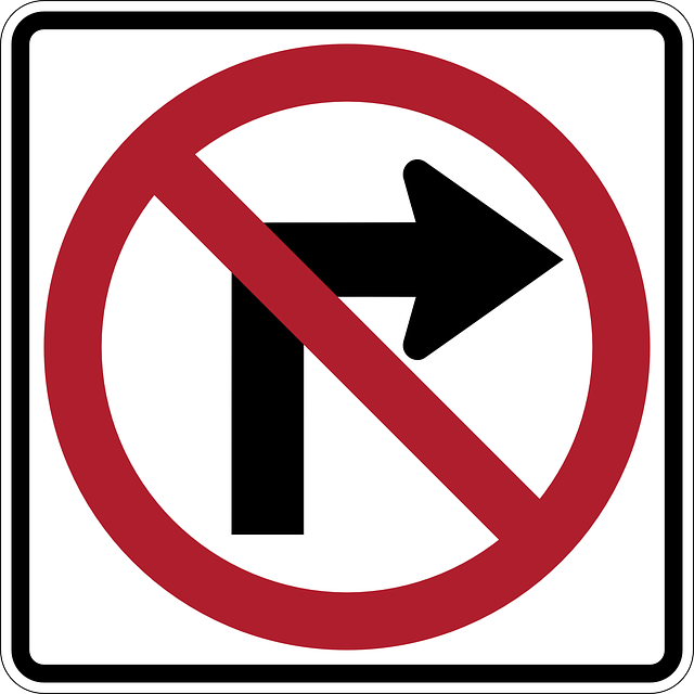 Free vector graphic: No, Right, Turn, Arrow, Sign.