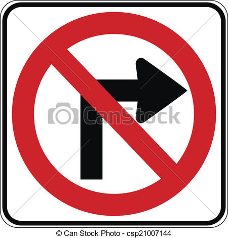 No right-turn clipart #17