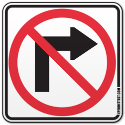 No Right Turn.