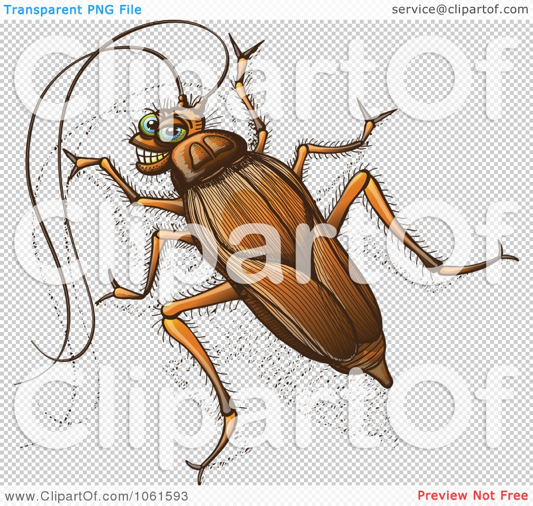 Clipart Grinning Cockroach.
