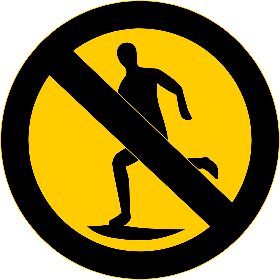 No Running By Pool Clipart.