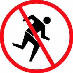 No Running On Stairs Clipart.