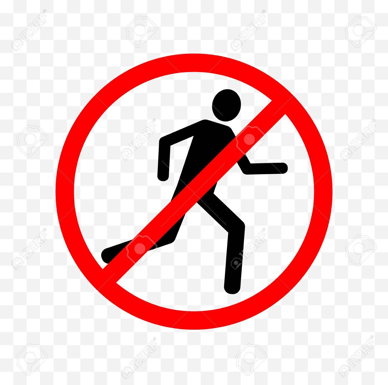 no running sign.
