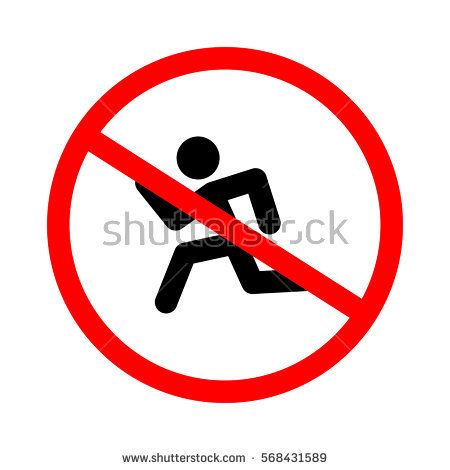 No Running Clipart.
