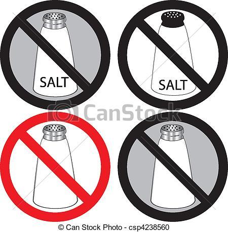 No Salt Sign.
